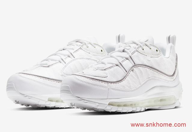 "Nike Air Max 98 ""Cut Away""  耐克MAX98小白鞋撕撕乐 货号:CJ0634-101-潮流者之家"