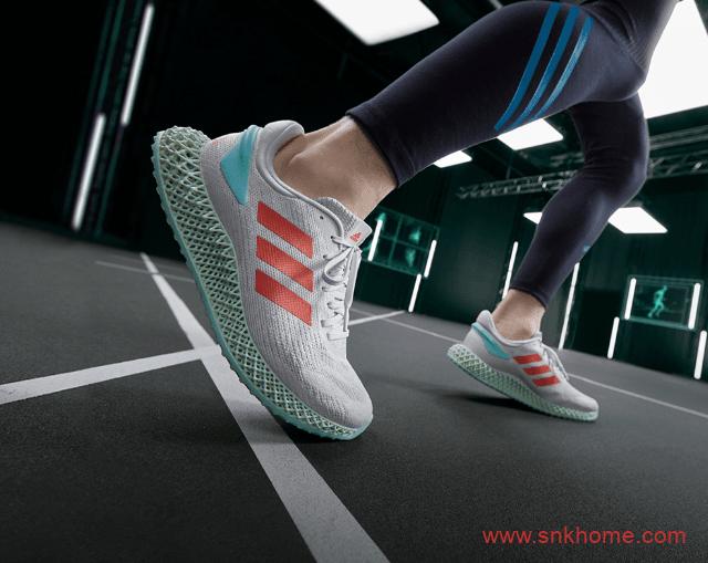 阿迪达斯夏季透气跑鞋 阿迪达斯可回收材质打造的跑鞋 全新 adidas 4D 跑鞋发售日期-潮流者之家