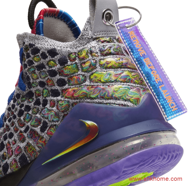 "Nike LeBron 17 ""What The""  詹姆斯17代实战篮球鞋鸳鸯配色发售日期 货号:CV8079-900-潮流者之家"