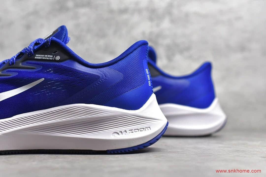 Nike Air Zoom Winflo 耐克登月7代白蓝跑鞋 耐克训练鞋 耐克登月跑鞋 货号:CJ0302-601-潮流者之家