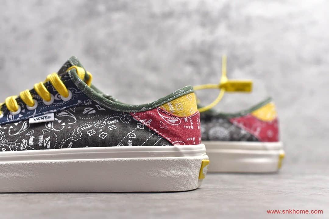 Vans x Rhude联名款帆布鞋 万斯腰果花印花 莆田万斯正品渠道-潮流者之家