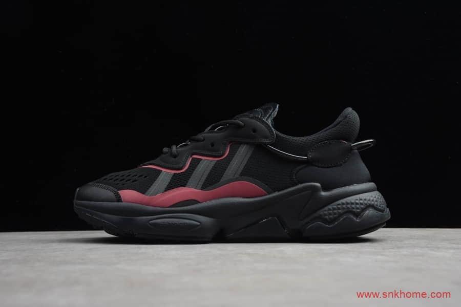Adidas Originals Ozweego 阿迪达斯2020新款简版椰子 阿迪达斯水管黑色跑鞋 货号:EF4285-潮流者之家
