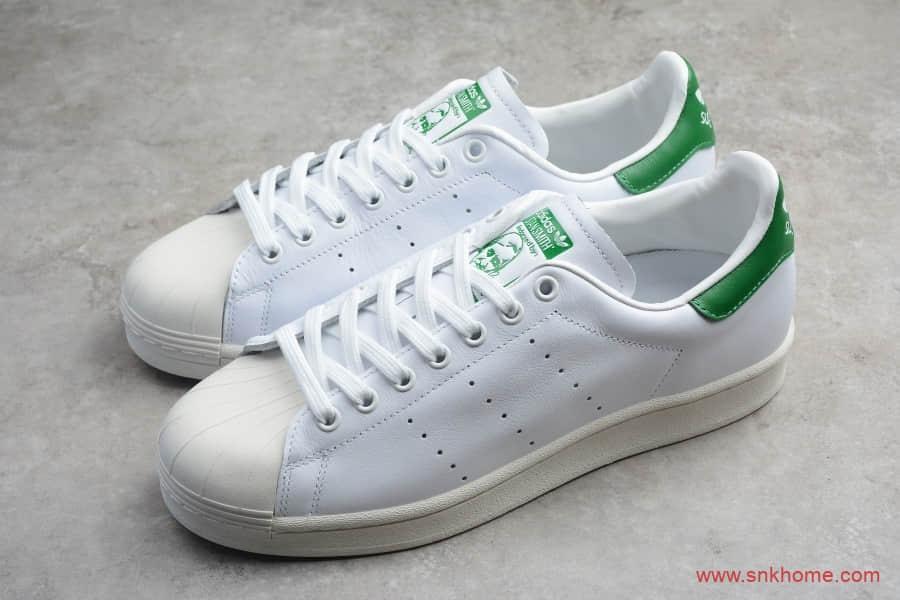 Adidas Originals Superstar 阿迪达斯贝壳头史密斯联名 阿迪达斯绿尾史密斯 货号:FW9328-潮流者之家