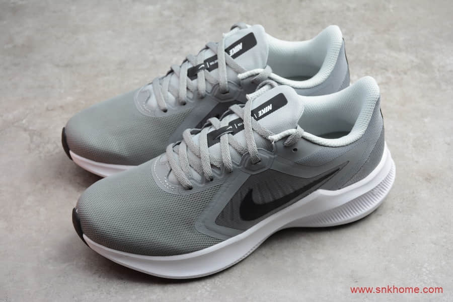 NIKE Downshifter 纯原版本耐克登月十代透气跑鞋 耐克灰色跑鞋 货号:CI9981-003-潮流者之家