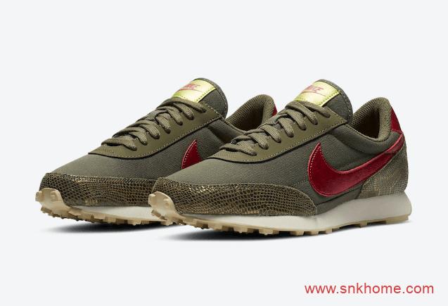 "Nike Daybreak WMNS ""Snakeskin""  耐克华夫蛇纹复古新款跑鞋发售日期 货号:CZ0464-200-潮流者之家"