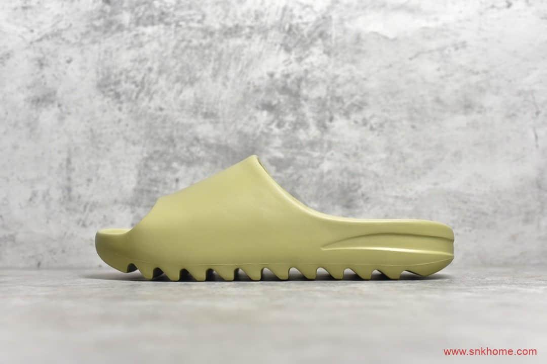 """阿迪达斯椰子拖鞋 adidas Originals Yeezy Slide """"Bone"""" 阿迪达斯椰子拖鞋绿豆 货号:FX0494-潮流者之家"""