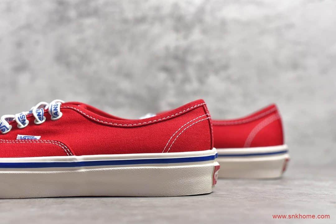 VANS AUTHENTIC 万斯红色一脚蹬帆布鞋 万斯安纳海姆正品硫化工艺-潮流者之家