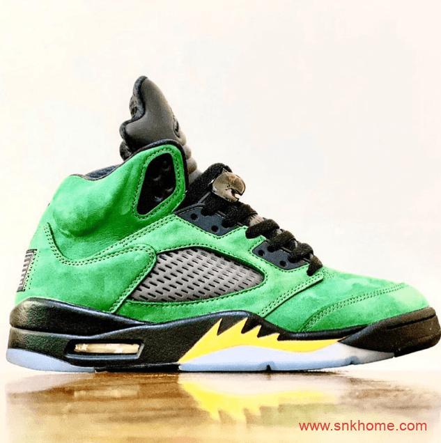 "Air Jordan 5 SE ""Oregon Ducks""  AJ5俄勒冈黑绿球鞋发售日期 货号:CK6631-307-潮流者之家"