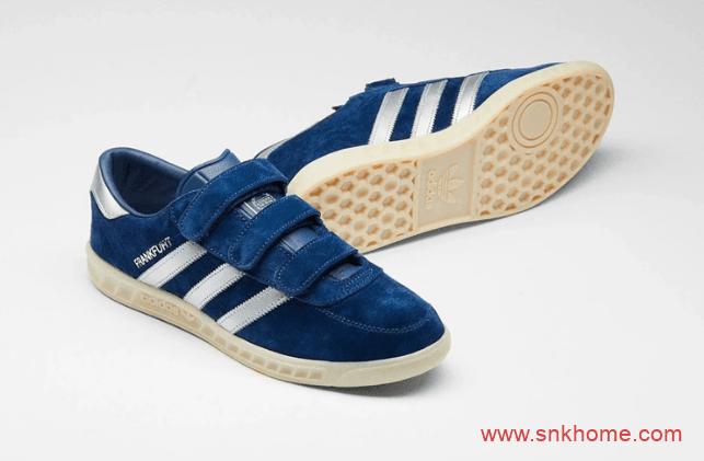 adidas Originals Frankfurt  阿迪达斯城市系列 阿迪达斯法拉克蓝色翻毛板鞋 货号:EF5788-潮流者之家