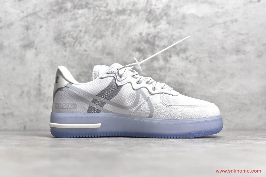 高端复刻空军这款最好看 纯原版本耐克空军一号低帮骨白冰蓝配色 货号:CQ8879-100-潮流者之家