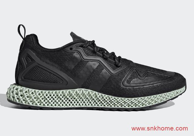 "adidas ZX 2K 4D ""Core Black""  阿迪达斯4D黑武士跑鞋发售日期 货号:FV9027-潮流者之家"