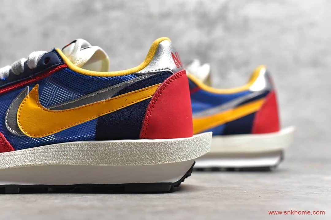 Sacai x NK LVD Waffle Daybrea 耐克华夫Sacai联名双勾双中底红蓝跑鞋 货号:BV0073-400-潮流者之家