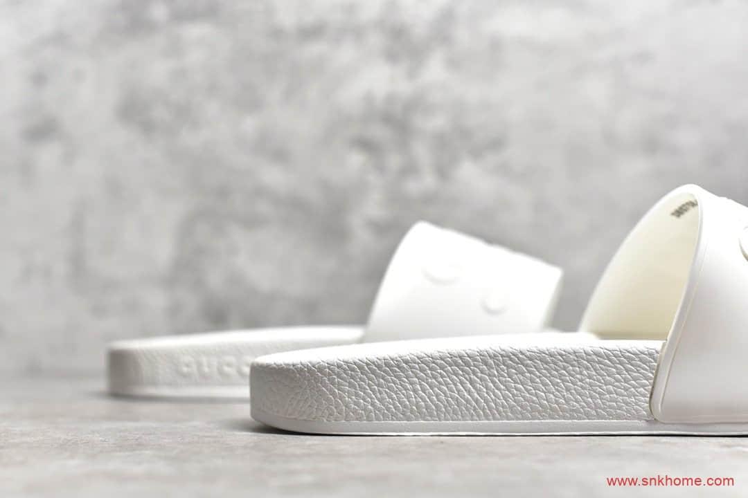 古驰CUCCI代购版本 CUCCI 3D印花古驰纯白拖鞋-潮流者之家