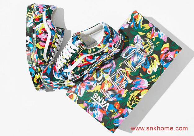 KENZO x Vans 联名 万斯花卉三个系列 高低帮都有 万斯Old Skool 万斯Sk8-Hi-潮流者之家