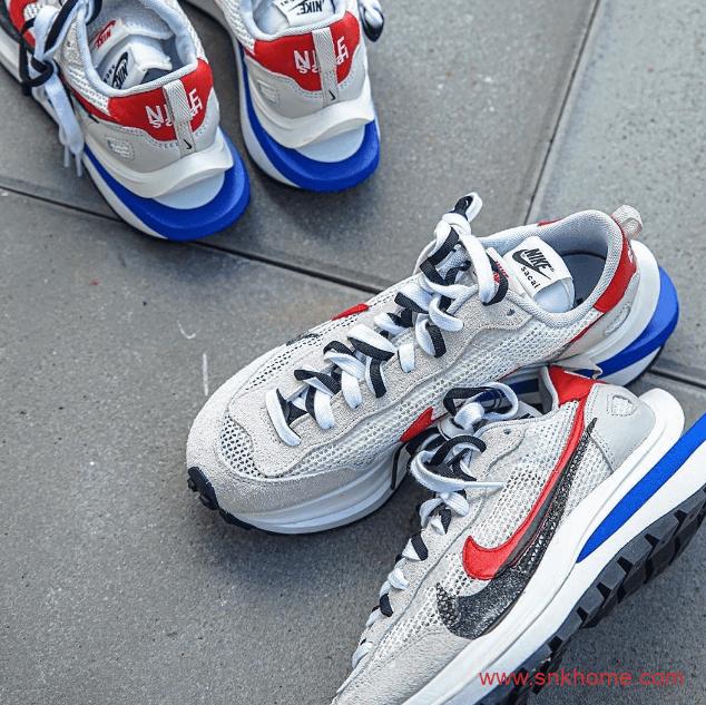 sacai x Nike VaporWaffle 耐克Sacai联名白红蓝走秀款阿甘既视感发售价格 货号:BV0075-001-潮流者之家
