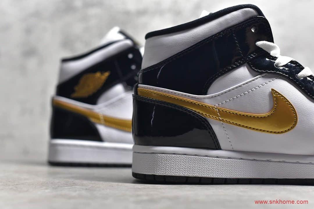 Air Jordan 1 MiD GET过毒纯原版本AJ1漆皮小黑金中帮货号:852542-007-潮流者之家