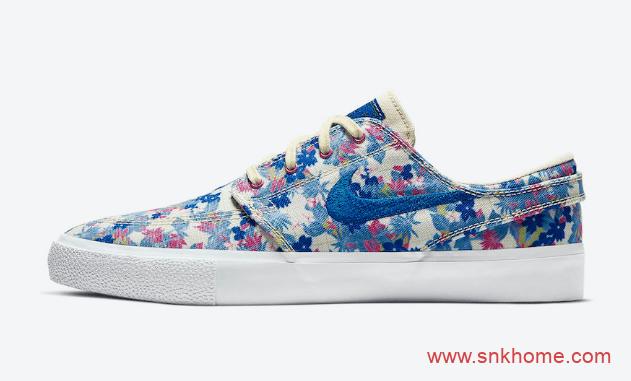 NIEK SB Stefan Janoski 耐克SB低帮清新花卉板鞋新配色 耐克Zoom低帮滑板鞋-潮流者之家
