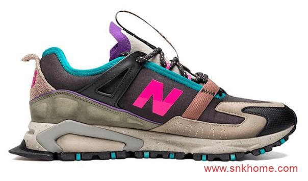 新百伦初代联名 NB联名跑鞋黑棕粉蓝紫灰色拼接 Bodega x New Balance X-Racer 新百伦联名款跑鞋-潮流者之家