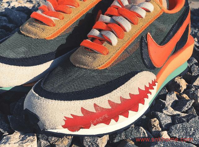 BAPE x sacai x Nike三方联名 耐克Sacai联名鲨鱼嘴简直不要太酷-潮流者之家
