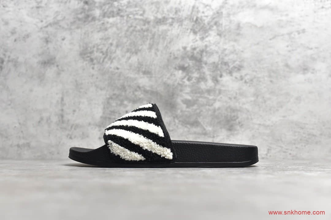 OFF-WHITE C/O VIRGIL ABLOH OW 夏季沙滩鞋OW黑白正品拖鞋-潮流者之家