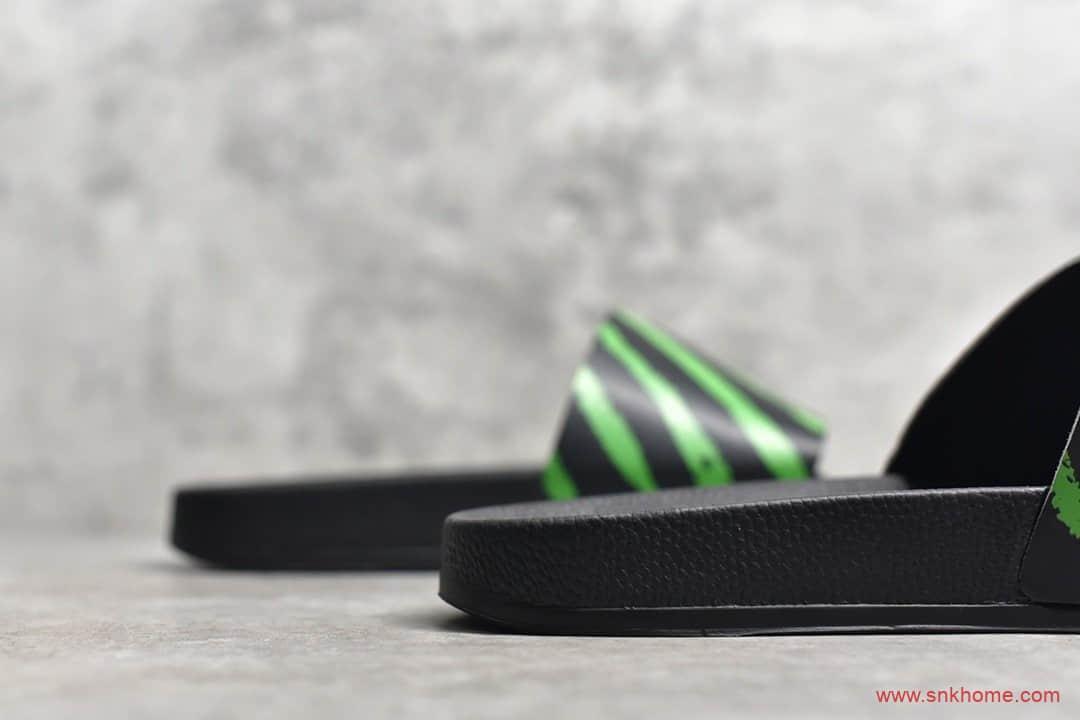 OW潮牌20SS spray stripes off-white喷涂条纹拖鞋 OW正品沙滩拖鞋-潮流者之家