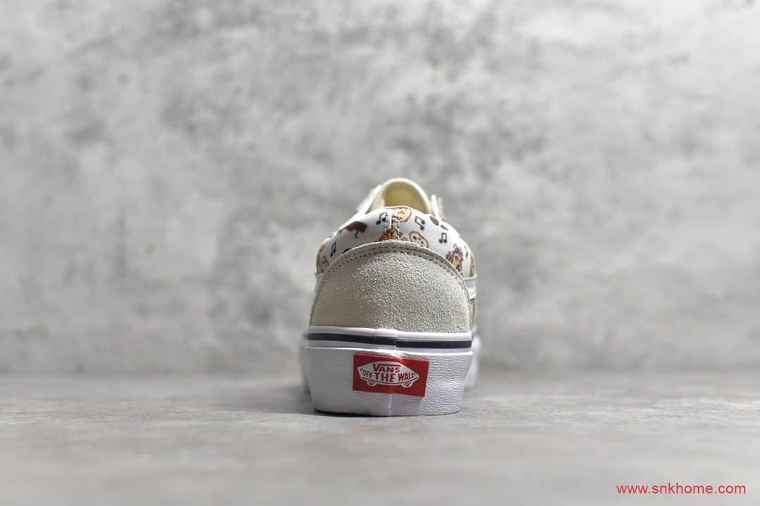 VANS OLD SKOOL 万斯史努比联名款卡通印花白灰鞋面 货号:VN0A38G1QVW-潮流者之家