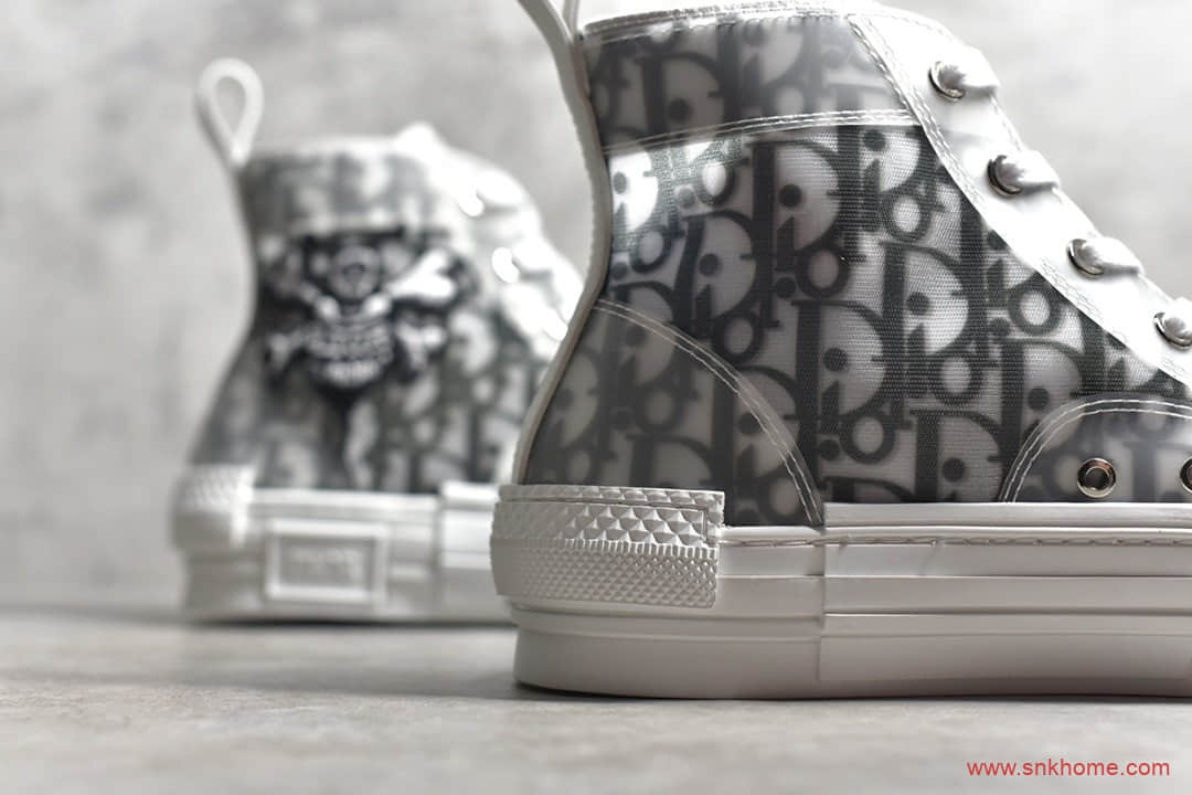 Diro Oblique B23 × Stussy 迪奥字母印花网纱高帮板鞋 莆田正确版本迪奥-潮流者之家