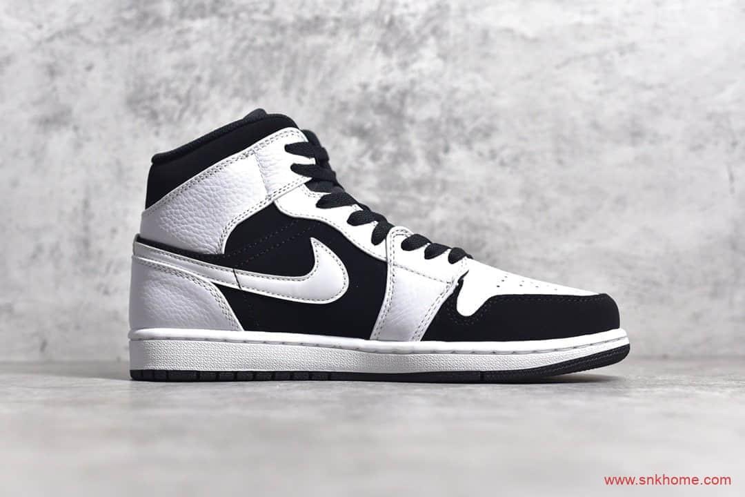 OG纯原版本AJ1中帮黑白熊猫 Air Jordan 1 MiD 货号:554724-113-潮流者之家