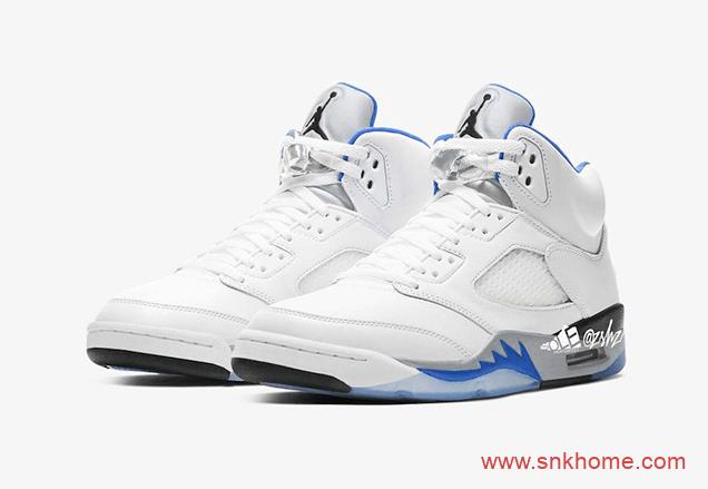 """Air Jordan 5 """"Hyper Royal"""" AJ5白蓝配色 AJ5皇家白蓝新配色效果图 货号:DD0587-140-潮流者之家"""