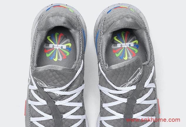 "Nike LeBron 17 Low ""Particle Grey"" 詹姆斯17代灰色篮球鞋夏季实战詹姆斯球鞋 货号:CD5007-004-潮流者之家"