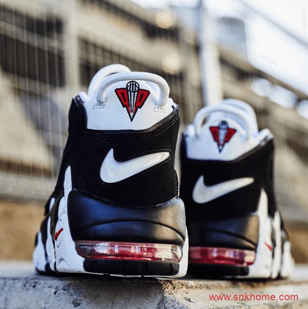 """耐克皮喷熊猫白红耐克大AIR Nike Air More Uptempo """"Scottie Pippen"""" PE 耐克皮蓬白黑实战篮球鞋-潮流者之家"""