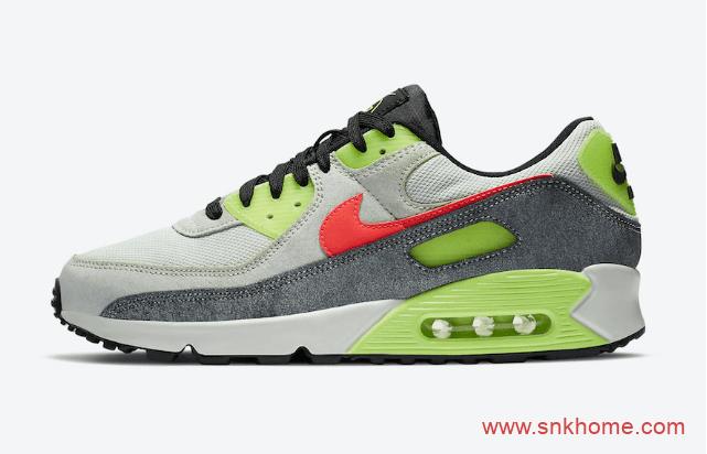 Nike Air Max 90 N7 耐克MAX90 N7灰绿配色跑鞋 高规格 N7 货号:CV0264-001-潮流者之家