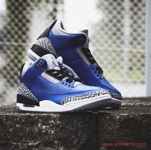 "Air Jordan 3 ""Varsity Royal"" 黑蓝AJ3实战篮球鞋发售日期 货号:CT8532-400-潮流者之家"