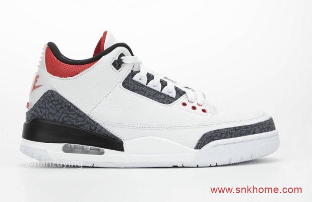 "Air Jordan 3 SE DNM""Fire Red"" AJ3新火焰红规格太高 AJ3爆裂纹火焰红发售日期 货号:CZ6431-100-潮流者之家"