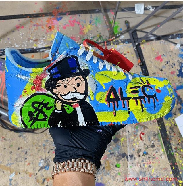 "Nike Air Force 1 ""MCA""为画布 Alec作画 耐克空军OW联名艺术馆秒变大富翁-潮流者之家"