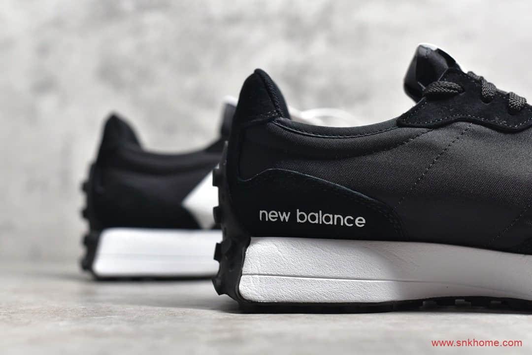 New Balance 327 复古先锋 新百伦NB327黑白色奥利奥跑鞋 货号:MS327LCB-潮流者之家