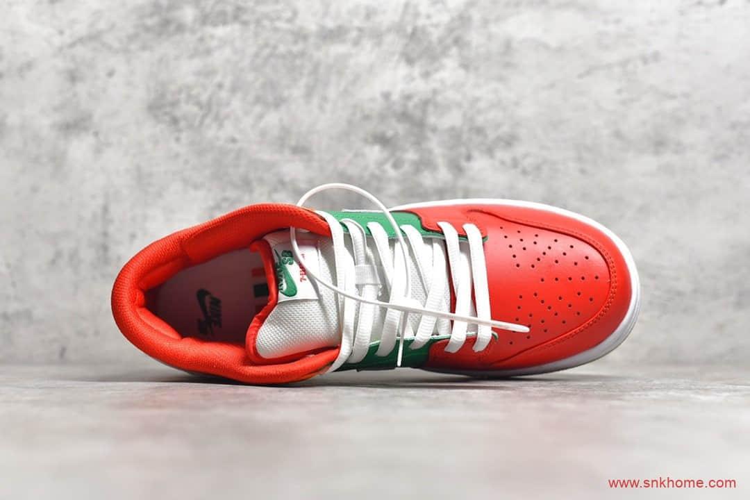 7Eleven x NIKE SB Dunk Low 耐克Dunk 7便利店联名 耐克Dunk SB橙绿红色低帮板鞋 货号:CZ5130-600-潮流者之家