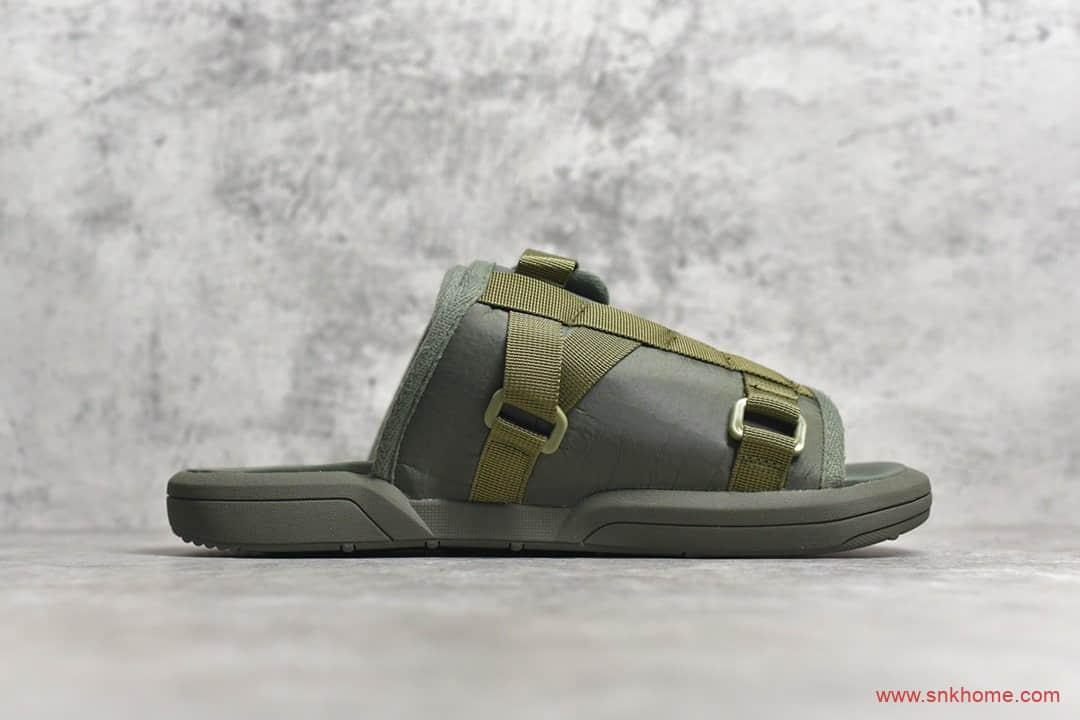 东莞代工厂渠道 VisVim x SOPHNET推出限定拖鞋 Clot X VisVim 军绿色拖鞋-潮流者之家