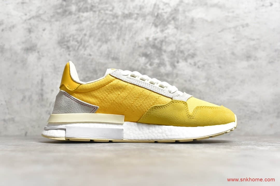 Adidas ZX500 RM Boost 巴斯夫真爆阿迪达斯ZX500 BOOST黄色跑鞋 货号:CG6860-潮流者之家