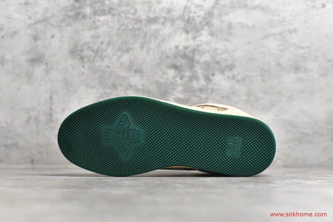 古驰复古学院风 Gucci Distressed Screener sneaker 古驰代购 CUCCI古驰板鞋做旧-潮流者之家