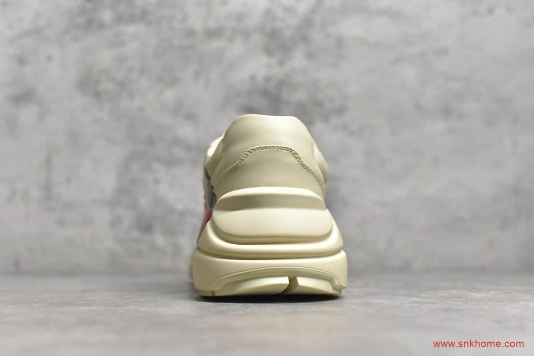 广东原厂古驰草莓老爹鞋 GUCCI Rhyton Vintage Trainer Sneaker 古驰米黄色老爹鞋-潮流者之家