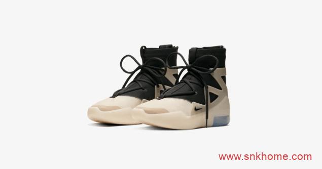 "Nike Air Fear of God 1 ""String"" 耐克FOG主理人谣言不攻自破 FOG黑灰配色发售日期 货号:AR4237-902-潮流者之家"