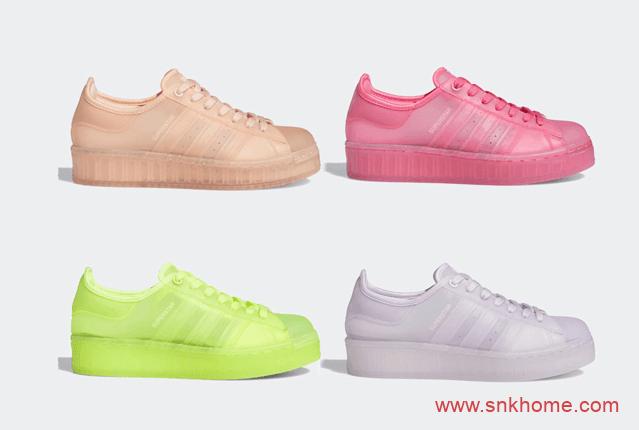 果冻阿迪达斯贝壳头四个新配色 adidas Superstar Jelly 货号:FX2987/FX4323/FX4322/FX2988-潮流者之家