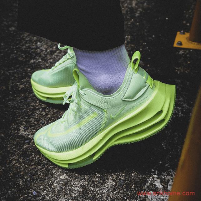 荧光绿跑鞋 Nike Zoom Double Stacked 耐克破二神鞋两款新配色 货号:CI0804-700/CI0804-001-潮流者之家