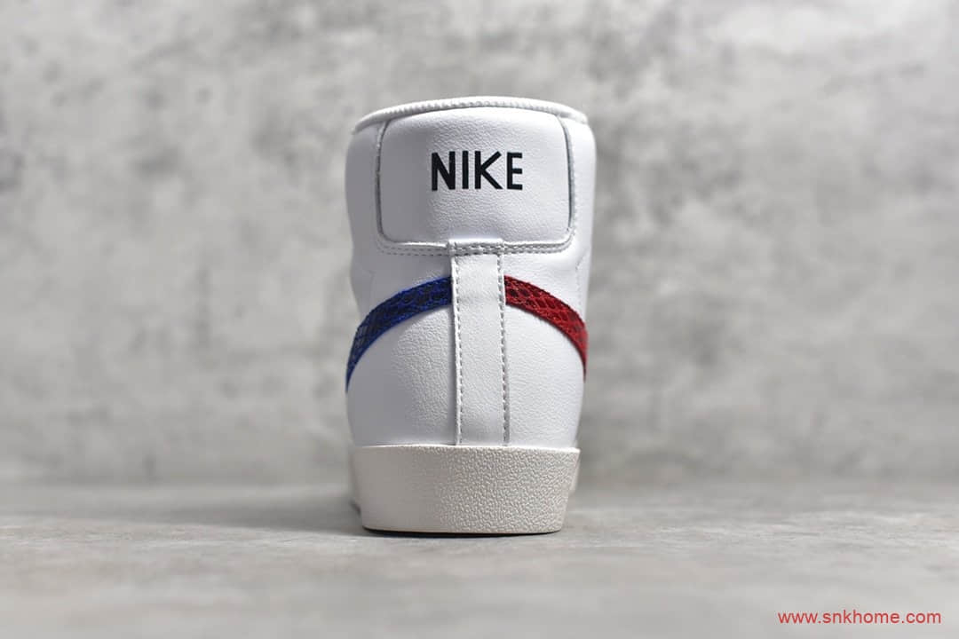 耐克开拓者白色鞋款红蓝蛇纹 NIKE W Blazer Mid Vintage Suede 耐克开拓者高帮 货号:CW7073-100-潮流者之家