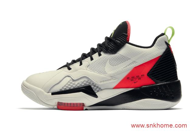 耐克奥运战靴 Air Zoom BB NXTJordan Brand 造型致敬 Air Jordan 7米白黑实战篮球鞋-潮流者之家