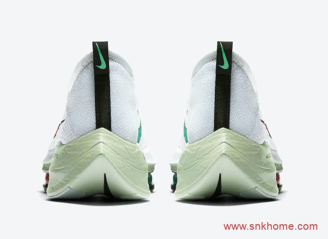耐克最强跑鞋 耐克马拉松系列 Nike Air Zoom Alphafly Next% 耐克白浅绿色跑鞋发售日期 货号:CI9925-100-潮流者之家