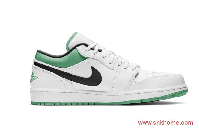 Air Jordan 1 Low 小凯尔特人 AJ1白绿小白鞋官图释出-潮流者之家