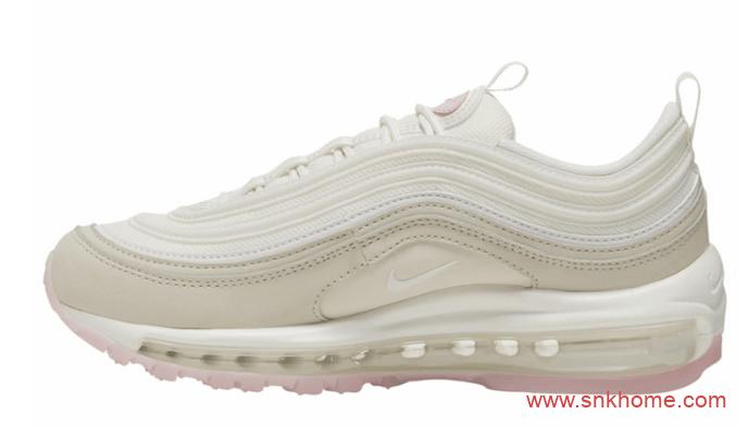 耐克子弹灰粉配色 小姐姐专属规格 Nike Air Max 97 GS 耐克子弹头淡粉色发售日期 货号:CT1904-100-潮流者之家