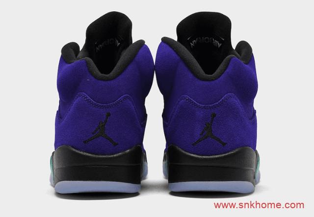 """反转葡萄 Air Jordan 5 """"Alternate Grape"""" AJ5黑紫反转葡萄发售日期 货号:136027-500-潮流者之家"""